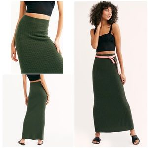 New Free People Horizon Cashmere Maxi Skirt